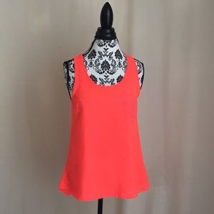 Ali & Kris Tops - Ali and Kris Flourescent Orange Tank Top Size Sm